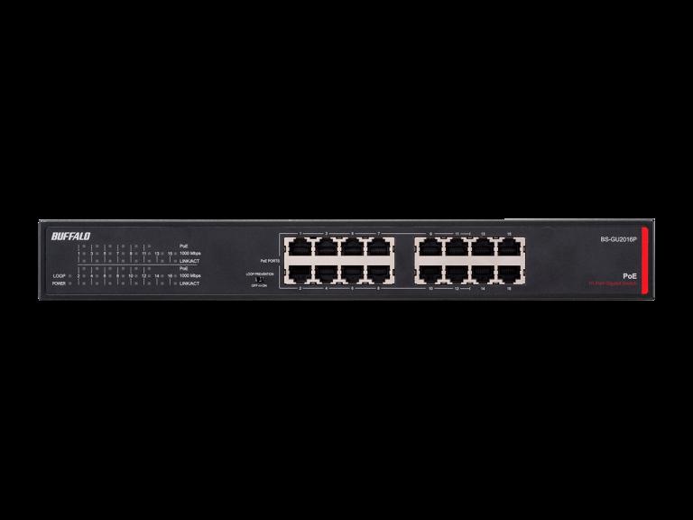 Buffalo BS-GU2016P PoE 16-Port Gigabit Switch